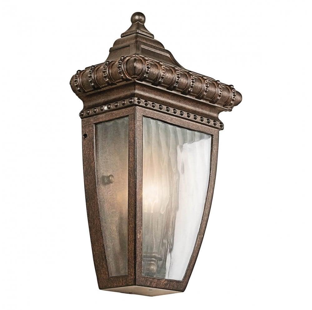 Kichler Venetian Rain 1 Light Half Wall Lantern Wall Light From C M Electrical Wholesalers Ltd Uk